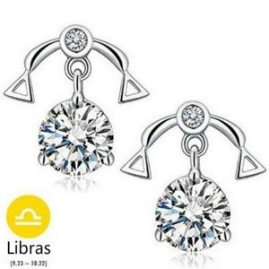 Jewelry - NEW sterling silver zodiac Libras stud earrings